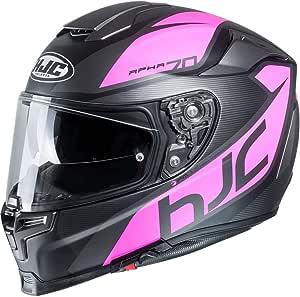 Hjc Helmets Herren Nc Motorrad Helm Schwarz Pink L Auto