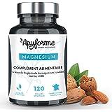 Apyforme - Magnésium - Magnésium végétal - Bisglycinate de Magnésium 1500 mg + vitamine B6-120 gélules végétales sans gluten, sans lactose, sans effet laxatif - Made in France