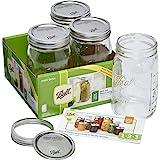 BALL MASON JARS Ball Mason Glass Preserving Homemade Jam Gift Jars, 945 ml, Pack of 4, 19 x 20 x 17 cm