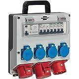 Brennenstuhl Wandverdeler IP44 (stroomverdeler voor Wandbevestiging 32 A, met FI-Persoonlijke Veiligheidsschakelaar 30 mA), 1