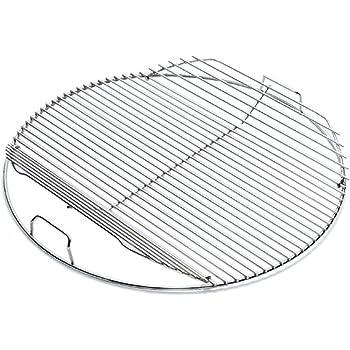weber edelstahl grillrost klappbar f r bbq 47cm 7434 garten. Black Bedroom Furniture Sets. Home Design Ideas