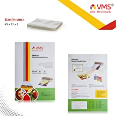 VMS Deluxe Laminating Pouch Film 80 Microns (Lamination Pouch) (310x450mm) set of 1 (100 pouch)