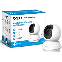 TP-Link Tapo Pan/Tilt Smart Security Camera, Indoor CCTV, 360° Rotational Views, Works with Alexa&Google Home, No Hub…