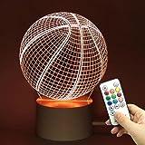 Trade® 10 Changement de couleur tactile télécommande gradation basket-ball Sports de balle 3d visualisation Acrylique LED Lum