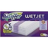 Swiffer Wetjet Balai Spray, Recharge Chiffons de Nettoyage, 20 Lingettes, Lingette Retient la Poussière et la Saleté