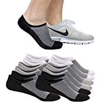 6 Pairs Mens Ankle Athletic Socks, Low Cut Breathable Running Socks,Comfort Sports Trainer Socks, Cotton Casual Non-Slip…