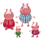 Peppa Pig - Pack 4 figuras Familia Pig Pijama