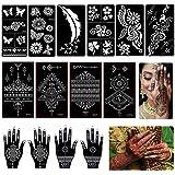 14 stks Henna Tattoo Stencils Kit, Tijdelijke Tattoo Tempels Set, Indiase Arabische Henna Stickers voor Vinger Hand Body Art