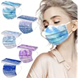 Sunenjoy 50 Pezzi Adulto Tessuto Viso Cotone usa e getta Visiera Bocca Faccia - 3 Strati - traspirante e Antipolvere - Adatto
