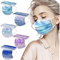 Sunenjoy 50 Pezzi Adulto Tessuto Viso Cotone usa e getta Visiera Bocca Faccia - 3 Strati - traspirante e Antipolvere…