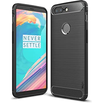 """Wow Imagine Shock Proof """"Carbon Fibre Brushed Texture"""" Armour Series Back Case Cover For Oneplus 5T - Carbon Black"""