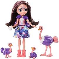 Enchantimals Savane Ensoleillée coffret Famille avec mini-poupée Ofelia Autruche et 3 figurines autruchon, jouet pour…