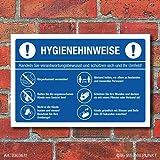 Warnhinweis Aufkleber Verhaltensregeln Schutz Hygiene Corona Digitaldruck Folie Din A4 Gewerbe Industrie Wissenschaft
