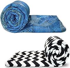 Reversible Microfibre Comforter/Blanket/Quilt/Duvet, AC Single Dohar