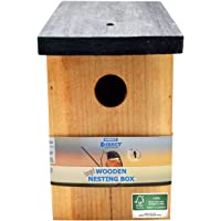Simply Direct 1 x Pressure Treated Wooden Wild Bird House Nesting Box SDBF017FSC - Made Using 100% FSC Wood, Environmentally Friendly Sustainable Forests