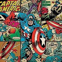 Marvel Comics Impresión en cuadro de lienzo Capitán América, multicolor 40x 40cm