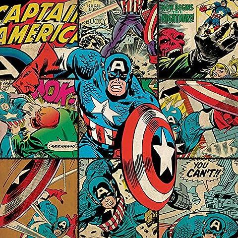 Captain America, Marvel Comics-Quadro su tela, 40