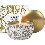 La Jolie Muse Candela Profumata alla Vaniglia con Noce di Cocco per la Cera 100% Naturale di Soia per Lo Stress Antistress Vi