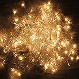 HG® 20m 600 LED Eiszapfen Lichterkette Außenlichterkette Warmweiß Wasserdicht für Weihnachten Halloween Geburtstag außen