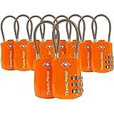 TSA Kofferslot - 3-Cijferig Kabelslot voor Koffer, Rugzak of Backpack op Reis - Bagageslot - Combinatieslot - Reisslot