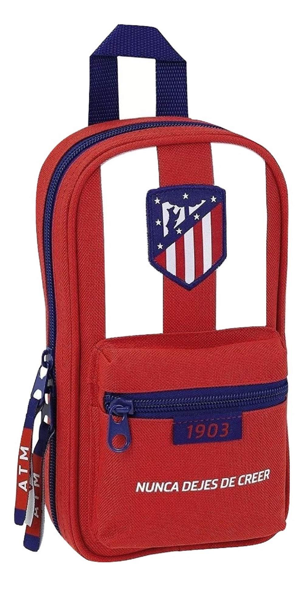 Atletico De Madrid – Plumier mochila con 4 portatodos llenos de atletico de madrid (Safta 411758747)