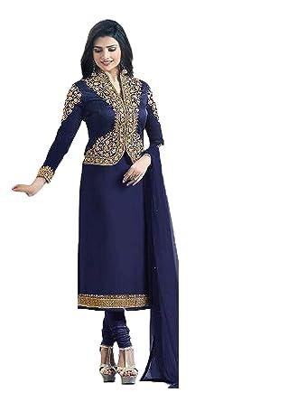 e026b9f2fe Indian Women's Designer Party Wear Ready Made Kameez Suit Dress:  Amazon.co.uk: Clothing