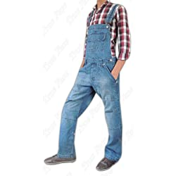 Men Women Unisex Denim Onesie Dungarees All in One Piece Bib Overalls 100 Cotton in