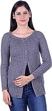 eWools Women's Ladies Girls Winter wear sweater shrug Woolen Cardigan (Grey, 704)
