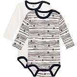 Sanetta Langarmbody Doppelpack Broken White Conjunto de ropa interior para bebés y niños pequeños