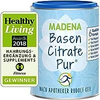 MADENA BasenCitrate Pur nach Apotheker Rudolf Keil   Basenpulver 216g Dose   Das Original mit 100% organischen Basen…