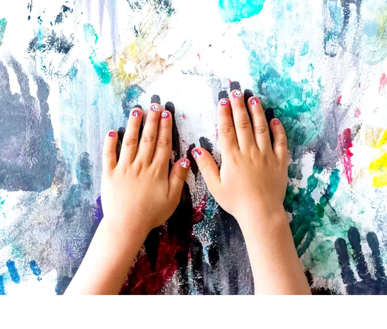 Howaf Unicornio 3D uñas calcomanías autoadherentes Calcomanía Nail Art Pegatinas Nail Sticker para niños niñas Regalo…