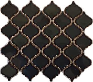 Retro Vintage Mosaik Fliese Keramik Florentiner blau gesprenkelt gl/änzend MOS13-0408/_f 10 Mosaikmatten