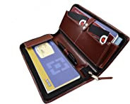 COI Expendable Leatherite Cheque Book Holder/Document Holder (Brown)