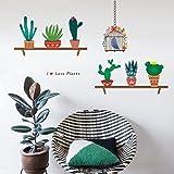 decalmile Cactus Plantas Pegatinas de Pared Vinilo Naturaleza Pegatinas Decorativos Adhesiva Pared Dormitorio Salón Habitació