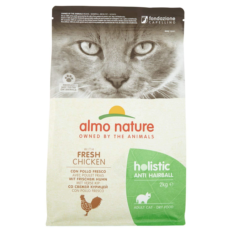 almo nature Cat Dry PFC Holistic Anti Hairball Pollo, 2 kg
