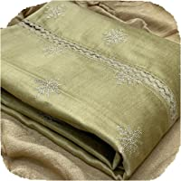 JAYAMAR FABRICS Woman's Coco Silk Embroidered Work With Chinon Dupatta With Multicolour Dress Material