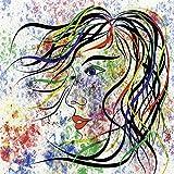 Artland Qualitätsbilder I Alu Dibond Bilder Alu Art 70 x 70 cm Menschen Frau Digitale Kunst Bunt D0JN Modern