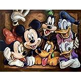 Kits de pintura de diamantes DIY 5D, Diamond Painting Crystal Rhinestone CraftIdeal Disney Mickey Mouse y Donald Duck Embroid