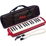 Stagg MELOSTA32RD Melodica 32 touches avec étui Rouge