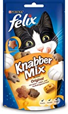 Felix Knabber Mix KatzenSnack Original, 8er Pack (8 x 60 g)