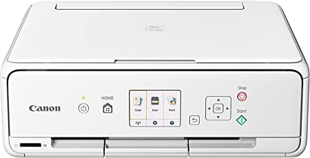 Canon PIXMA TS5051 Farbtintenstrahl-Multifunktionsgerät (Drucken, Scannen, Kopieren, 5 separate Tinten, WLAN, Print App, 4.800 x 1.200 dpi) weiß