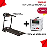 Powermax Fitness TDM-97 (1.0HP), Light Weight, Foldable Motorized Treadmill for your fitness workout at home
