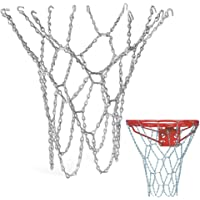 Schneespitze Rete Basket in Metal,Pallacanestro Netto Portable Basket d'Acciaio Basket Net Acciaio Inossidabile 12 Hoop…