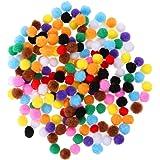 HEALLILY pompons pour artisanat pompons multicolores boule en peluche colorée pour passe-temps fournitures créatives bricolag