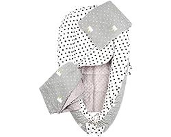 Reducteur de lit bebe 4 éléments bébé Cocon 101x62cm nouveau-né 100% Coton Baby nest Medi Partners doublure amovible, couvert