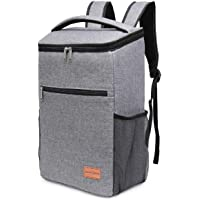 NASUM Picnic Backpack, Meal Container Backpack Large Insulated Cooler Bag, Big Capacity Oxford Waterproof, for BBQ/Outdoor Activities/Takeaway Soft Cooler with Hard Liner, 31 * 21.5 * 37cm, 25L