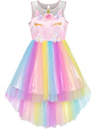 fc22ed1ac9e7 Girls Dress Sequin Mesh Party Wedding Princess Tulle 7-14 Years