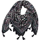 32a19b48795 Malloom Tassel Écharpe Femmes De Mode Rétro Boho Imprimé Carré Foulards  Femme Wraps Fille Châles Écharpe