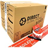 15 Strong Cardboard Storage Packing Moving House Boxes Double Walled with Fragile Tape and Black Marker Pen and 10…