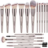 BESTOPE 20 PCs Makeup Brushes Premium Synthetic Contour Concealers Foundation Powder Eye Shadows Makeup Brushes with Champagn